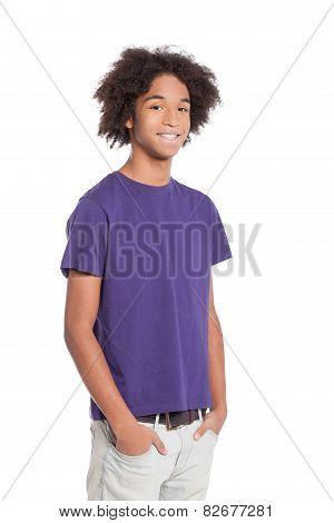 Cheerful Teenager.