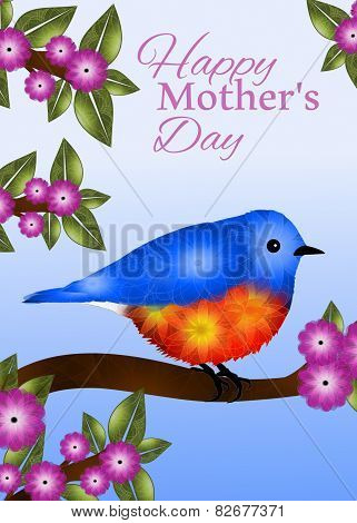 Bluebird Mother's Day Greeting Card Design
