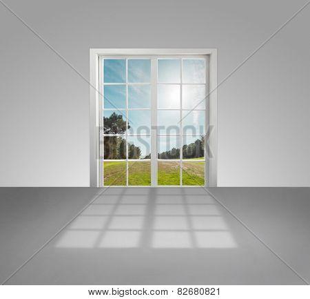 French door opening to the garden
