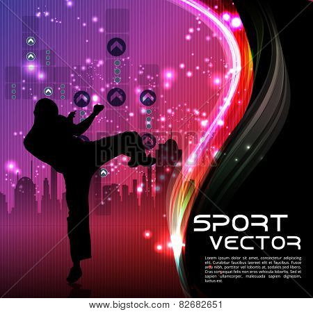 Karate. Vector background