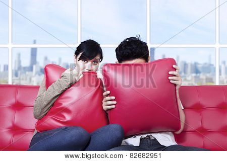 Fear Couple Watching Tv
