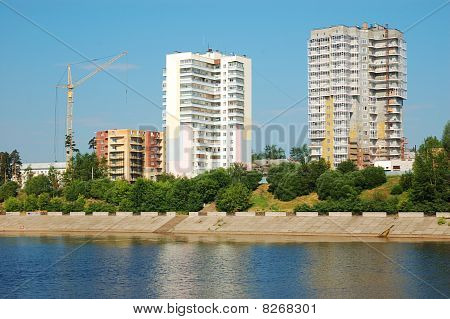 Block Of Flats And Buildings Under Construction