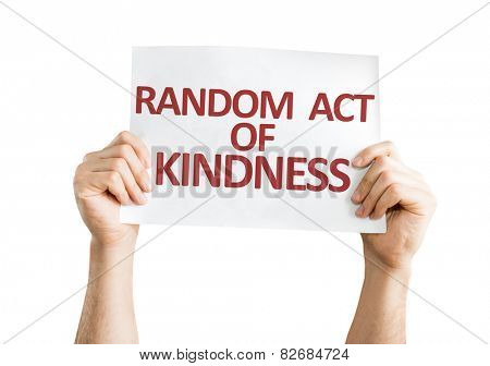Random Act of Kindness card isolated on white background
