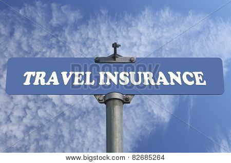Travel insurance road sign