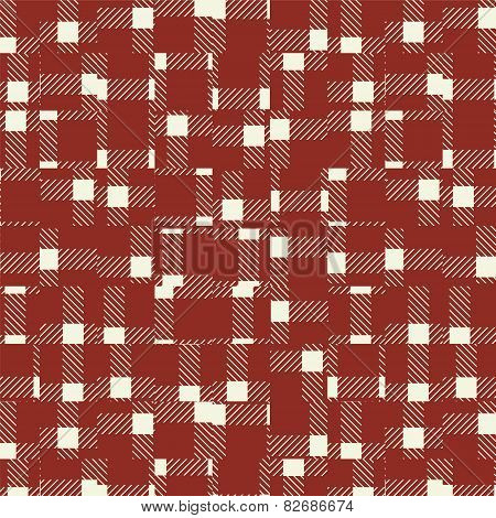 Random broken check pattern background-vintage red.