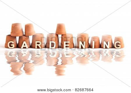Gardening Word Design Logo