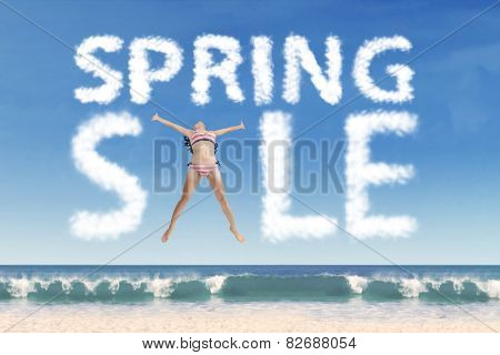 Model Forming Spring Sale Text