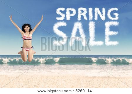 Young Model With Spring Sale Cloud