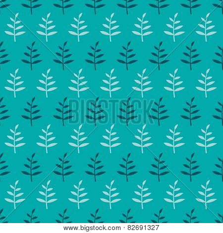 Seamless floral pattern with sprouts. Endless background