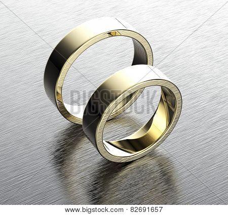 Wedding gold ring. Jewelry background