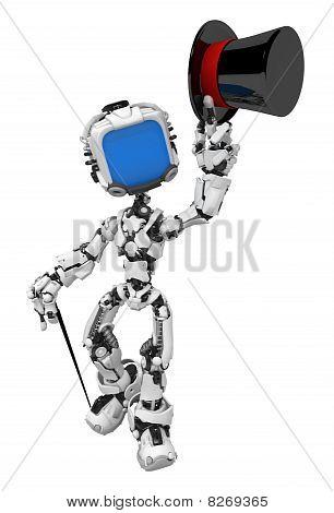 Robot de pantalla azul, sombrero de Copa