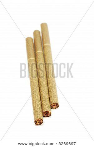 three cigarettes