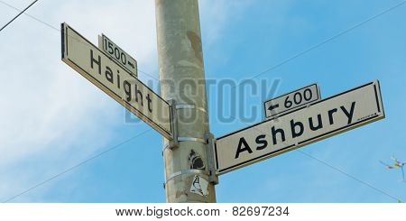 Haight - Ashbury street sign in San Francisco, Califronia, USA