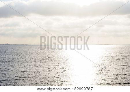 Sea against the light