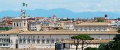 stock photo of emanuele  - Rome aerial view from Vittorio Emanuele monument on May 29 2014 Rome Italy - JPG