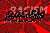 image of racial discrimination  - Word racism in different shades - JPG