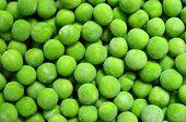 stock photo of green pea  - frozen peas green beans texture pattern background - JPG