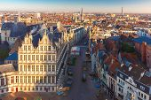 picture of gents  - Aerial view of Ghent from Belfry  - JPG