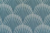 foto of scallop-shell  - Pattern of a scallop shell backdrop or wall paper - JPG