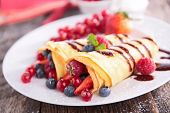 stock photo of crepes  - crepe with berry - JPG
