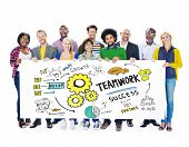 pic of collaboration  - Teamwork Team Together Collaboration Group People Banner Concept - JPG