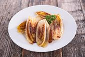 picture of chicory  - fried chicory - JPG