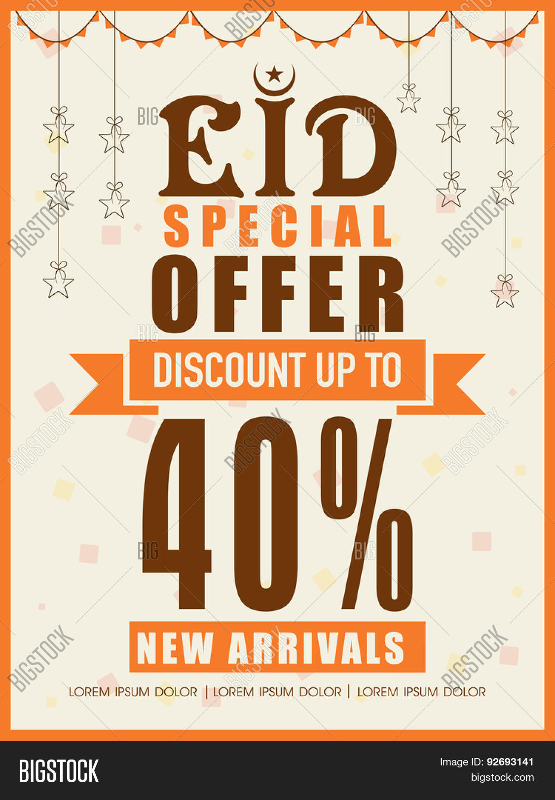 eid special offer % discount offer on new arrivals eid special offer 40% discount offer on new arrivals creative poster banner
