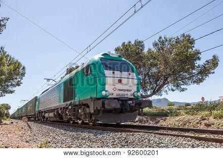 Cargo Train in Spain