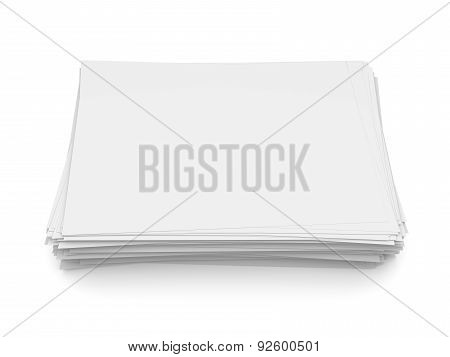 Stack Of White Paper Sheets