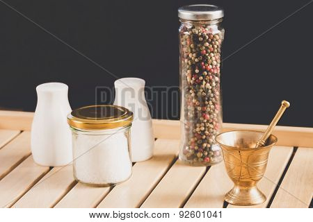 Concept Of Salt And Pepper Accessories