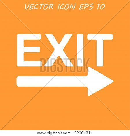 Exit Icon - Vector Illustration