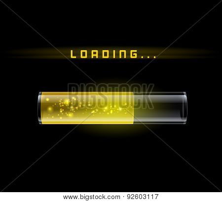 Yellow Loading Bar with shine