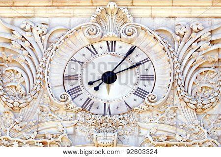 Antique stone clock