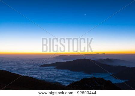 Sunrise On Cattle Back Mountain