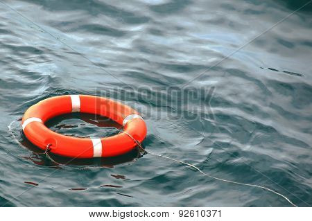 life buoy on the water