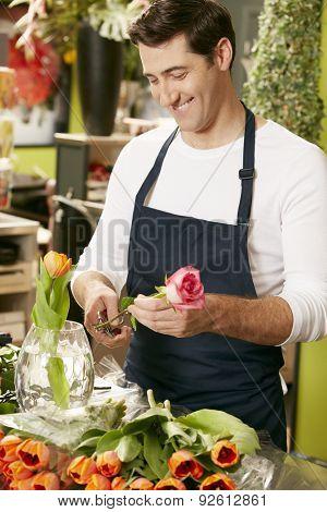 Portrait Of Male Florist In Shop