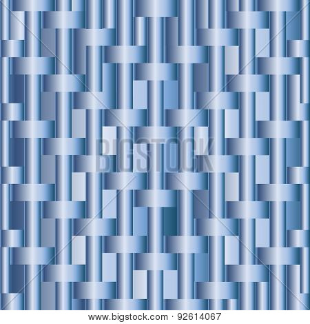 Abstract Background With Blue Metallic Bars