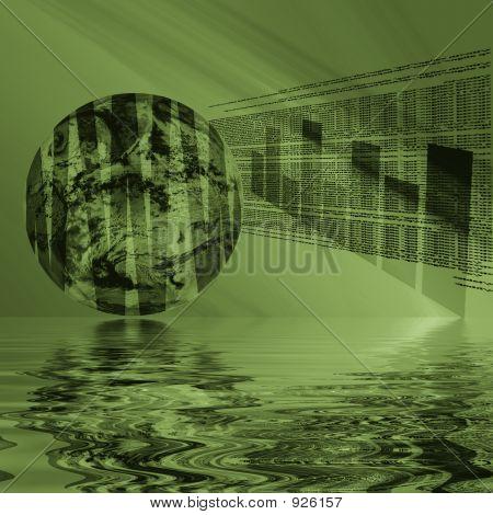 Internet 3D Globe Reflected
