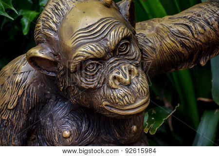 Statue of Chimpanzee