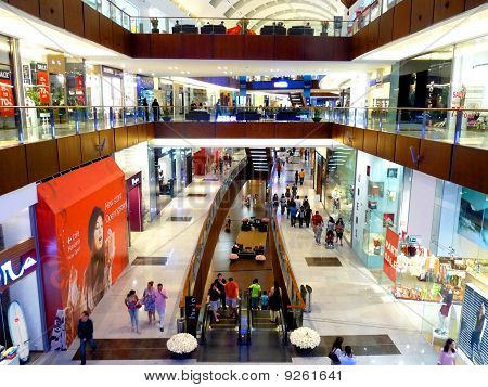 Shoppers at Dubai Mall