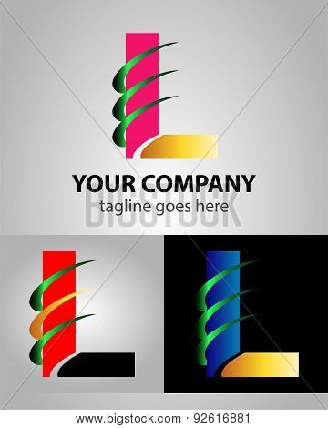 Corporate Logo L Letter company vector design template