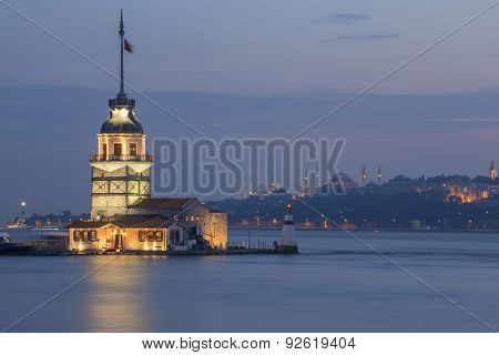Maiden Tower In Istanbul, Turkey