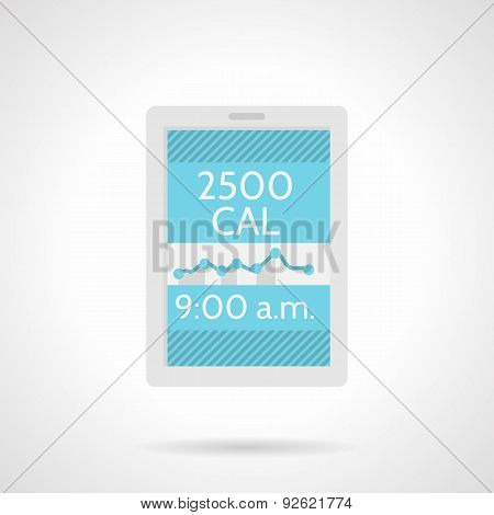 Calorie counter app flat color vector icon