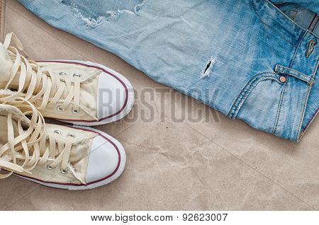 Torn Jeans And Shoes