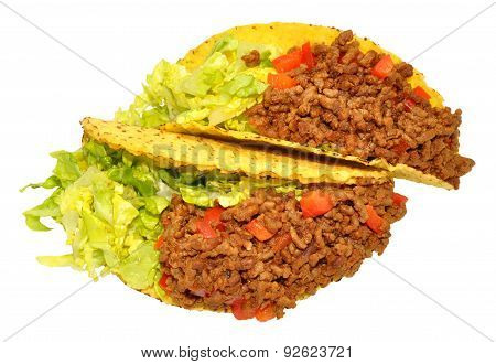Two Beef Filled Tacos