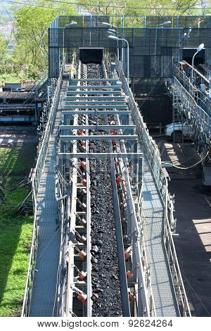 Coal Transportation Line For Processing