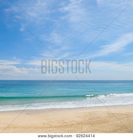 Picturesque Ocean Coast And Blue Sky