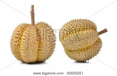 Durian Fruit Isolated On A White Background