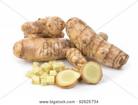 White Turmeric On White Background
