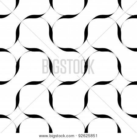Black And White Seamless Pattern With Stripe Line, Abstract Background